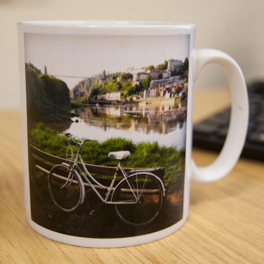 Mug personalised with a photo of Clifton Suspension Bridge
