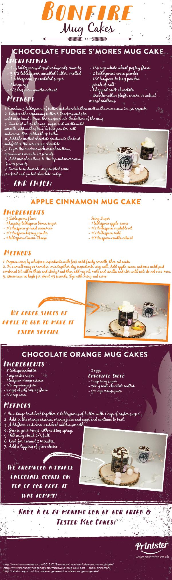 Bonfire - Mug Cakes