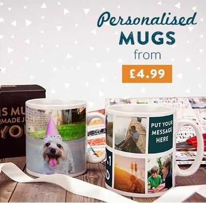 Personalised Mugs from £4.99