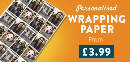 Personalised Wrapping Paper From £3.99