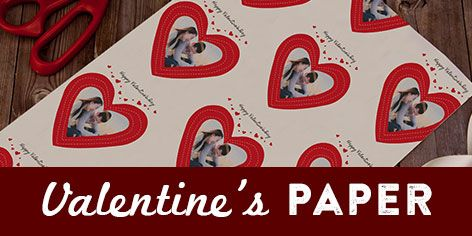 Personalised Valentines Gift Wrap