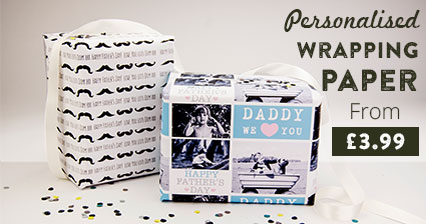Personalised Father's Day Wrapping Paper